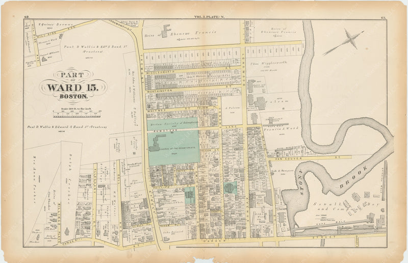 Boston, Massachusetts 1873 Plate N