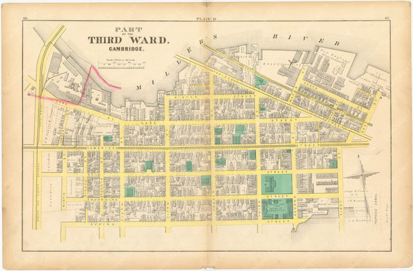 Cambridge, Massachusetts 1873 Plate Q