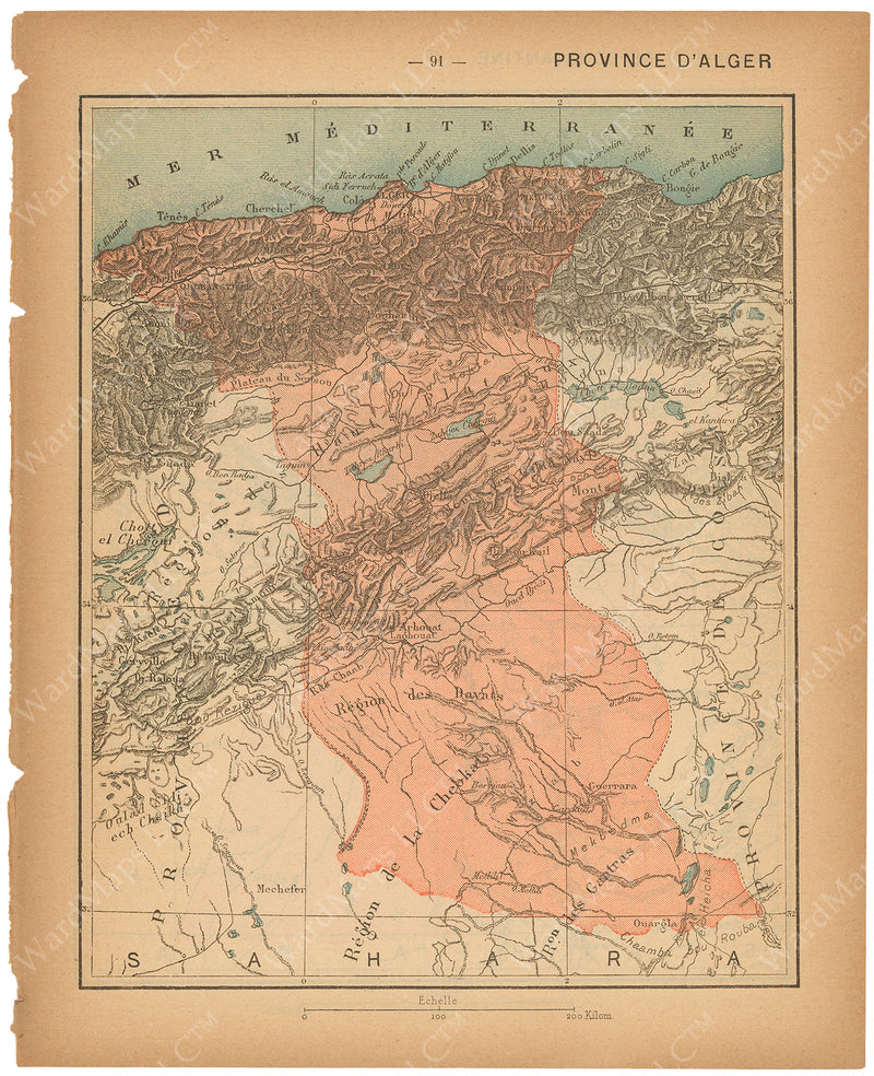 France Departments 1888: Algeria Province