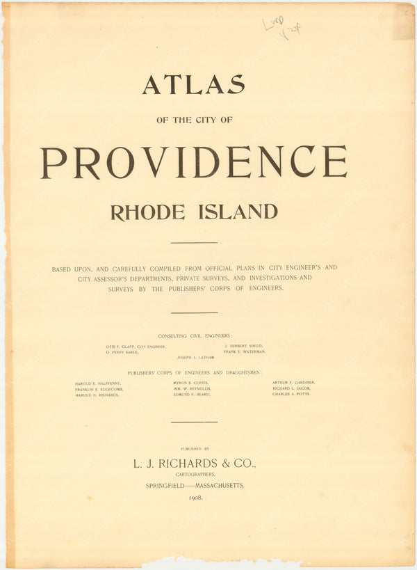 Providence, Rhode Island 1908 Title Page