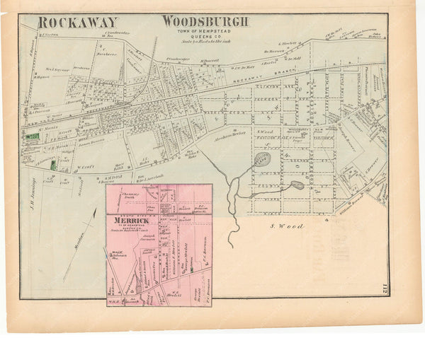 Hempstead: Merrick and Woodsburgh, New York 1873