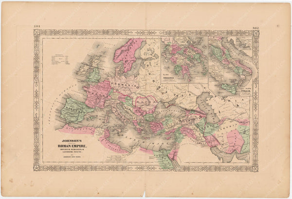 Classical Map 1865: The Roman Empire