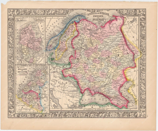 Russia, Scandinavia, and Low Countries 1864