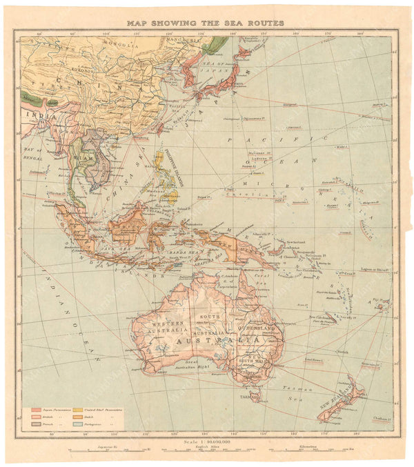 Southeast Asia Sea Routes 1920