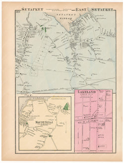 Brookhaven: Mount Sinai and Setauket; Islip: Lakeland, New York 1873
