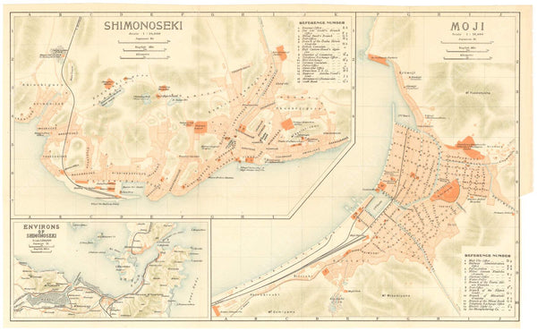 Kitakyushu, Moji, and Shimonoseki, Japan 1914