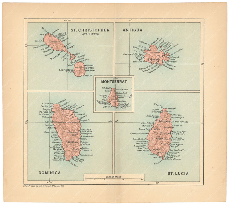 Antigua, Dominica, Montserrat, Saint Kitts & Nevis, and Saint Lucia 1927