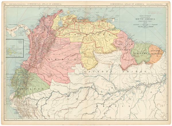 South America 1925: Northwestern Portion