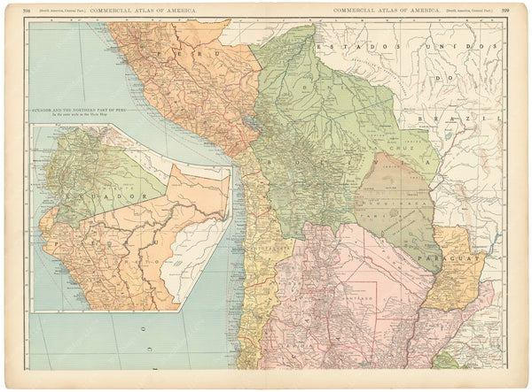 South America 1925: Western Portion