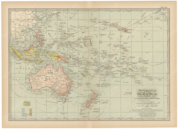 Oceania and South Pacific 1914