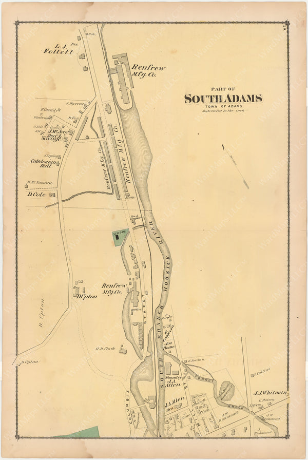 Adams, Massachusetts 1876