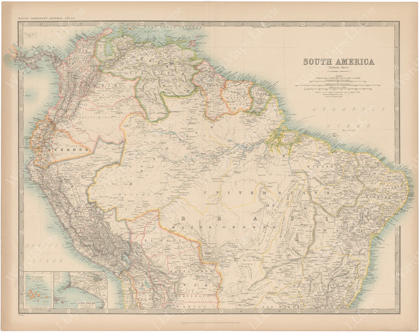 South America (North Part) 1913