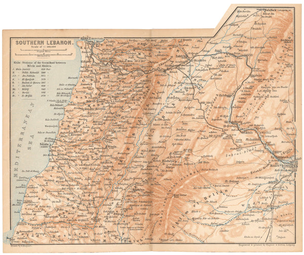 Lebanon: Southern Part 1898