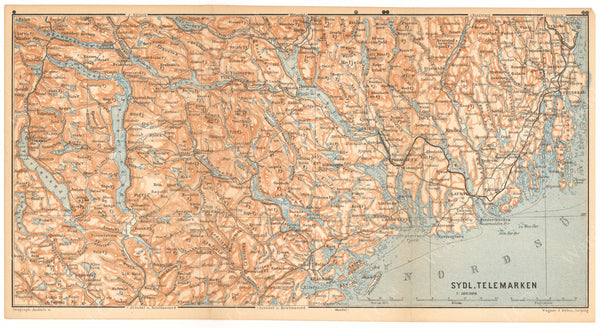 Telemark Region South, Norway 1898