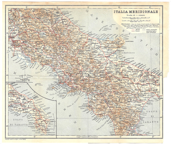 Italy 1930: Southern Part