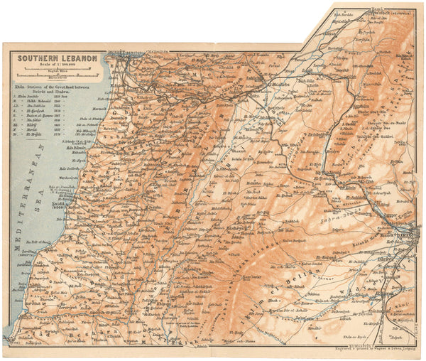 Lebanon: Southern Part 1912