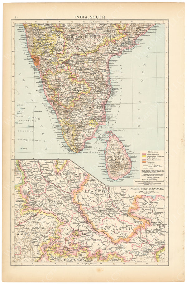 India 1895: Southern Part