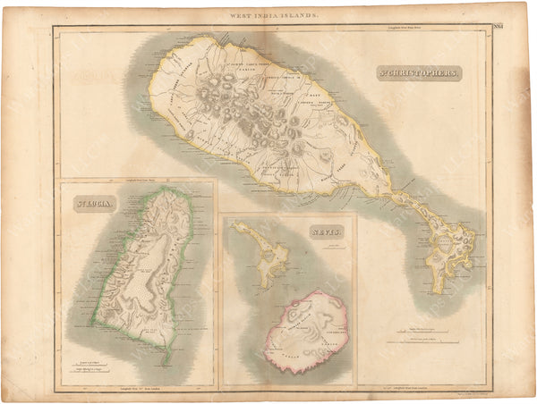 Saint Lucia, Saint Kitts, and Nevis Islands 1814