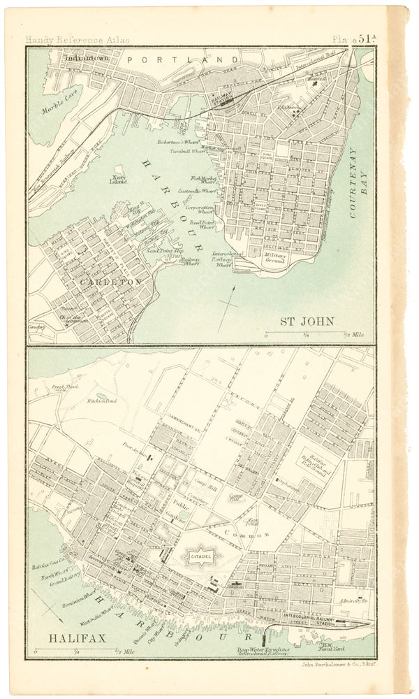 Halifax, Nova Scotia and Saint John, New Brunswick 1898