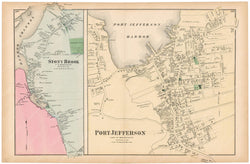 Brookhaven: Port Jefferson and Stony Brook, New York 1873