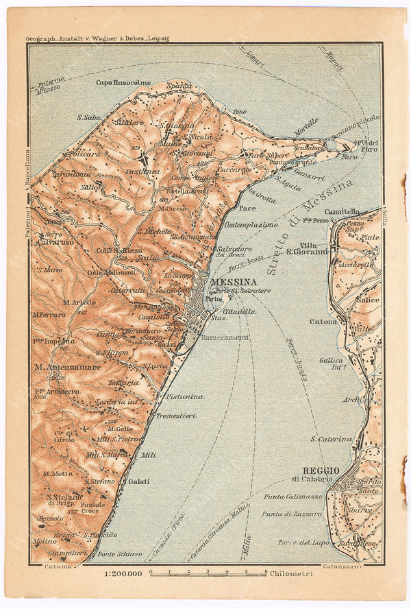Messina Region, Italy 1911