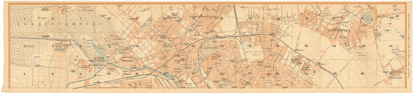 Berlin, Germany 1908: Strip Map 1 of 3 (North)