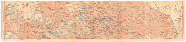 Berlin, Germany 1908: Strip Map 2 of 3 (Middle)
