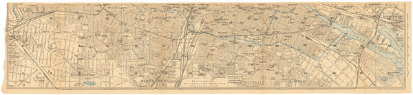 Berlin, Germany 1908: Strip Map 3 of 3 (South)