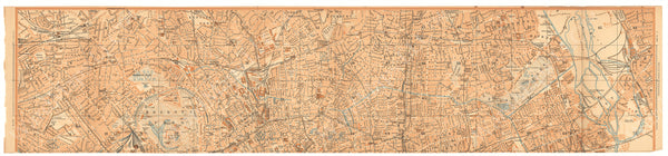 London, England 1930: Strip Map 01