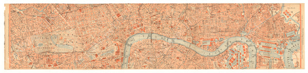 London, England 1930: Strip Map 02