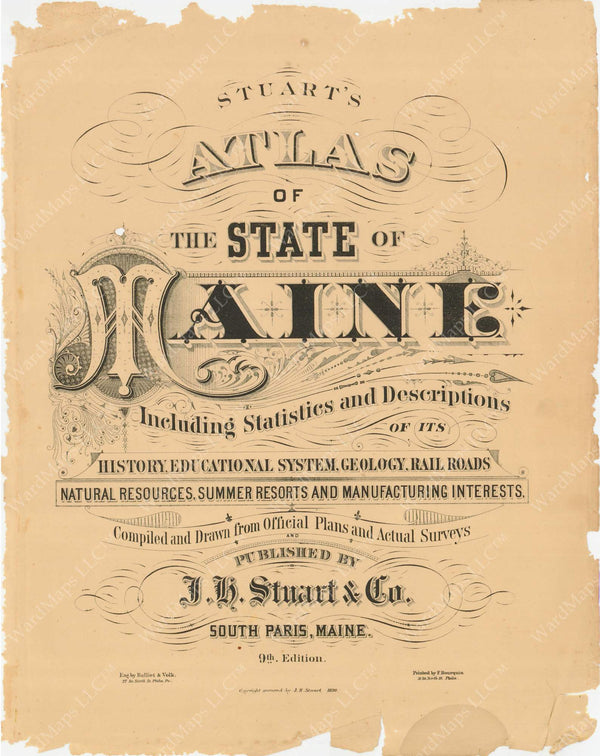 Maine 1894-95 Title Page