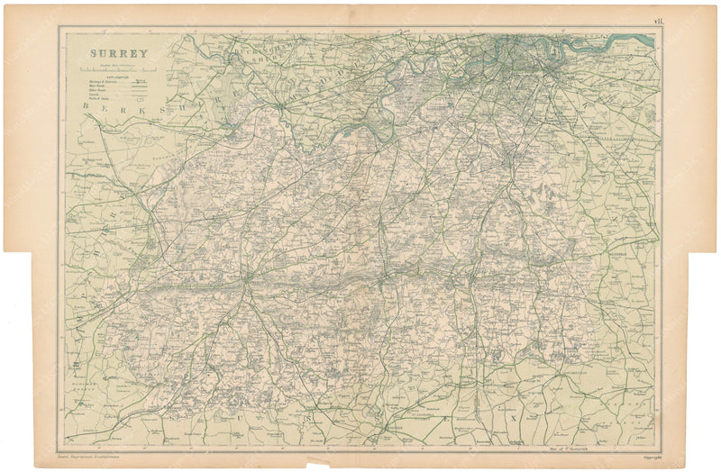 London, England and Suburbs 1910: Surrey County