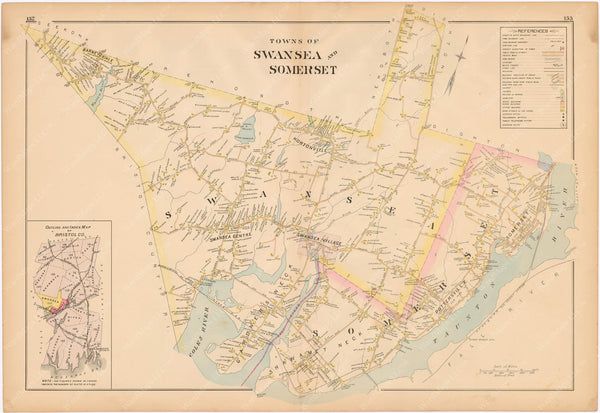 Somerset and Swansea, Massachusetts 1895