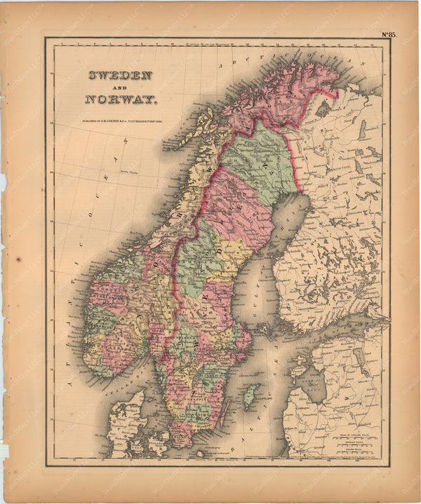 Norway and Sweden 1857