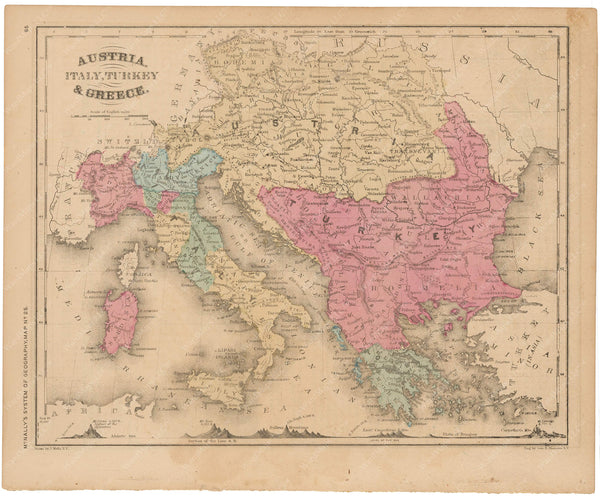 Italy, Austria-Hungary, and The Balkans 1856