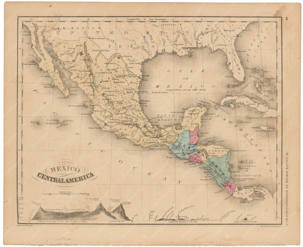 Mexico and Central America 1856