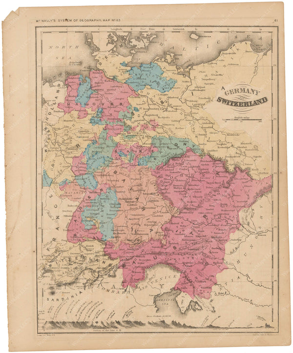 Germany, Austria, and Switzerland 1856