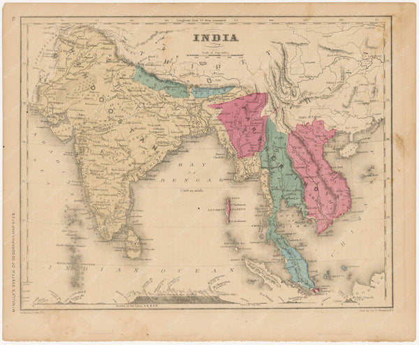 India and Southeast Asia 1856