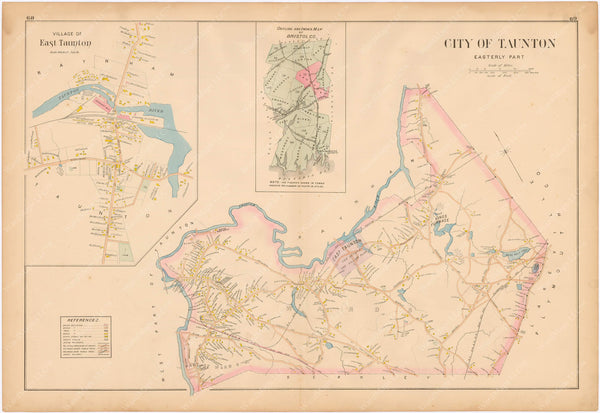 Taunton, Massachusetts 1895: Eastern Part