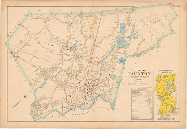 Taunton, Massachusetts 1895: Western Part