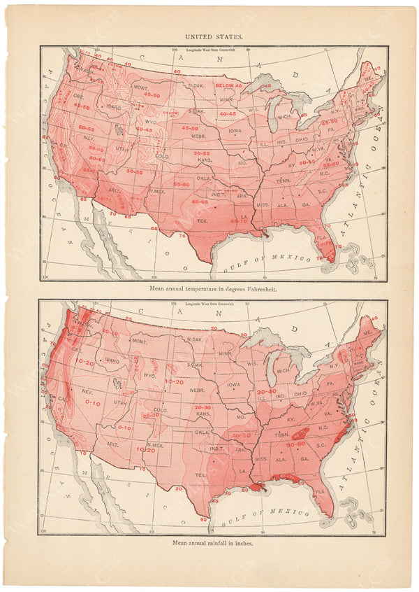 United States 1899: Temperature and Rainfall