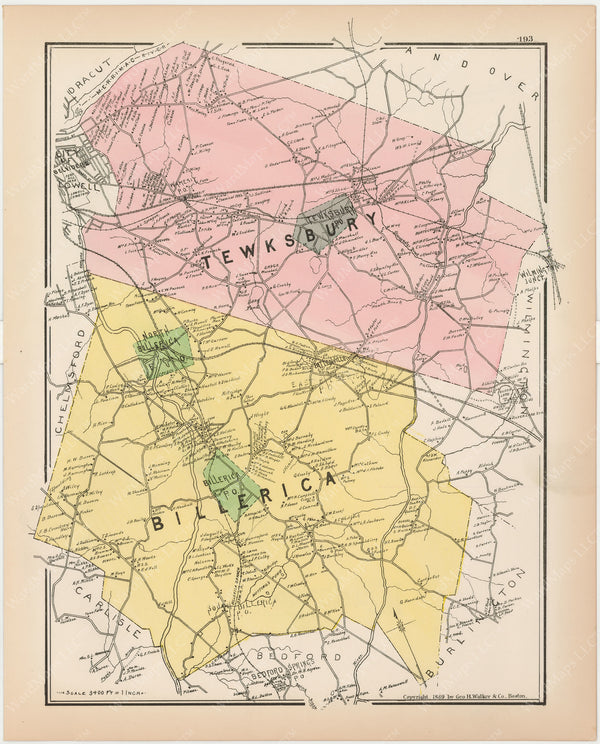 Billerica and Tewksbury, Massachusetts 1889