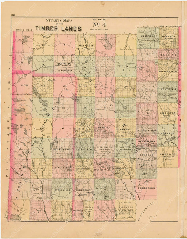 Timber Lands Number 4, Maine 1894-95
