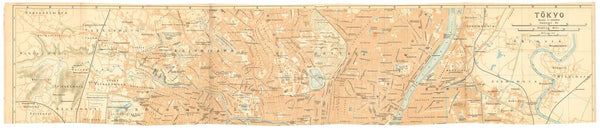 Tokyo, Japan 1914: Strip Map 1 of 4 (North)