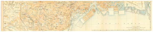 Tokyo, Japan 1914: Strip Map 3 of 4 (Middle South)