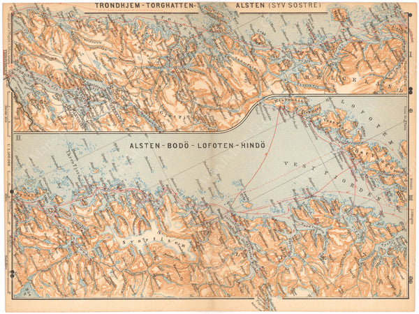 Norway 1898: Central Coast with Ship Routes
