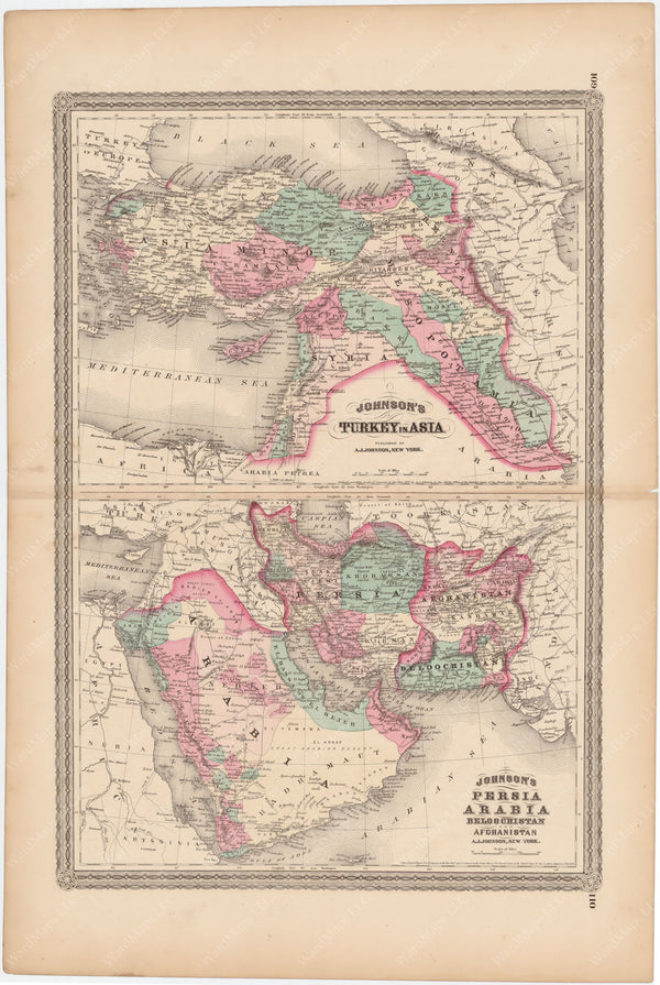 Turkey in Asia, Persia, and Arabia 1873