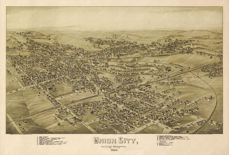 Union City, Pennsylvania 1895