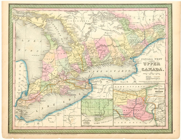 Canada West; formerly Upper Canada 1854