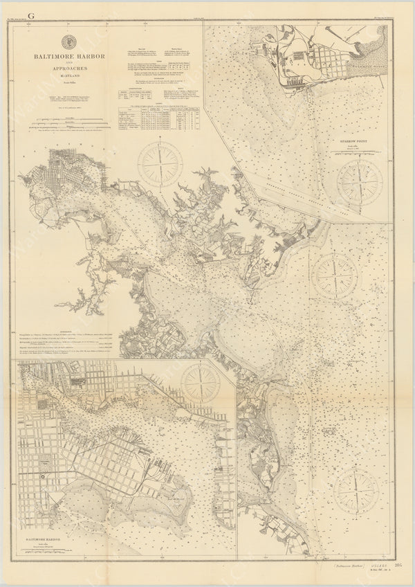 USC&GS Maryland: Baltimore Harbor and Approaches 1895
